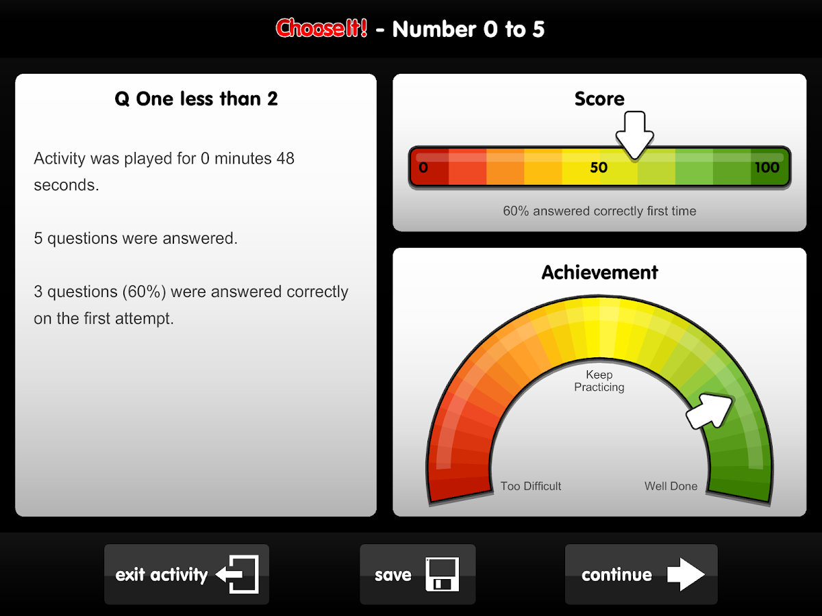 ChooseIt! Numeracy- screenshot