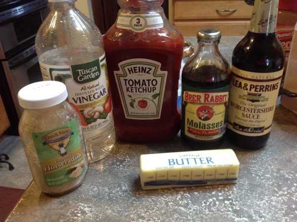 While the ribs are cooking, prepare the sauce by combining all of the ingredients...