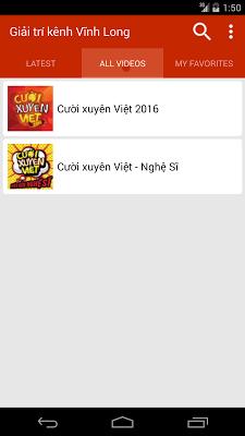 Giải trí kênh Vĩnh Long - screenshot