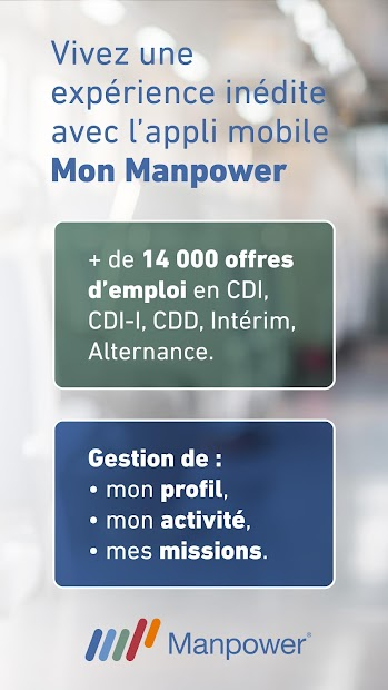Mon Manpower – Offres d'emploi Android App Screenshot
