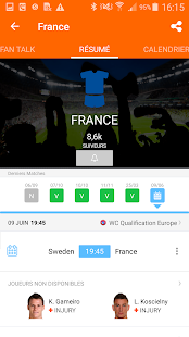 LiveSoccer - Coupe du monde de football de 2018 Capture d'écran