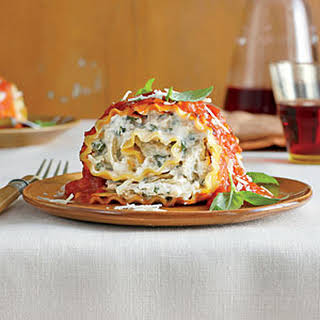 Tomato-Basil Lasagna Rolls.