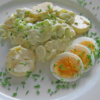 German Cucumber Potato Salad with Eggs.