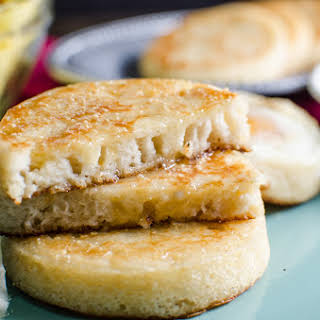 Gluten Free Crumpets with Honey and Coconut.