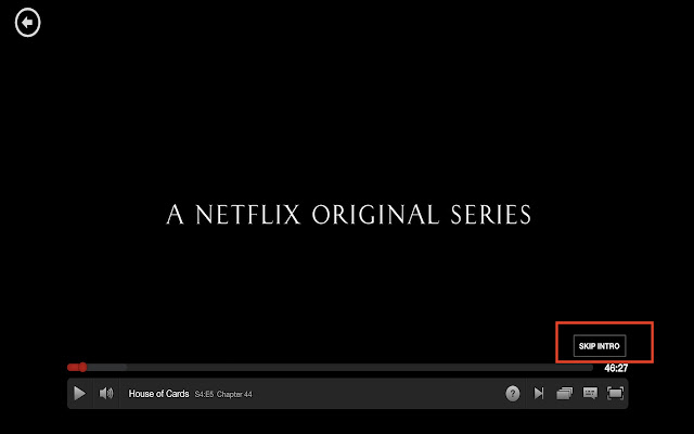 Neflix Auto Skip Intro Button