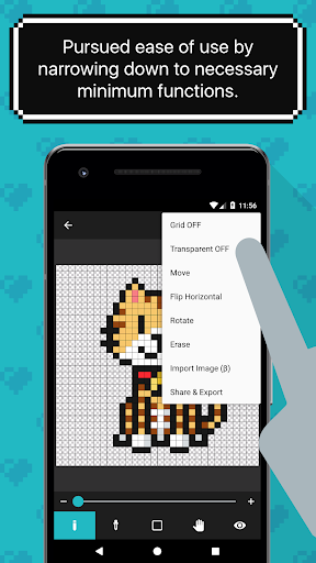 8bit Painter - Pixel Art Drawing App screenshot