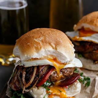 Drunken Aussie Beef Burgers Recipe