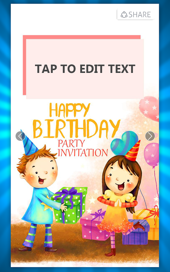 birthday invitation card maker  android apps on google play, Birthday card
