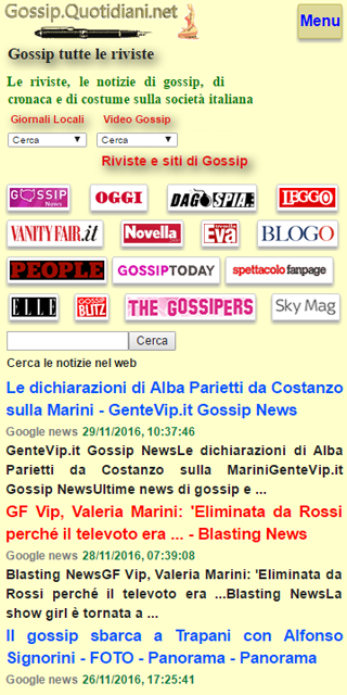 Gossip Quotidiani- screenshot