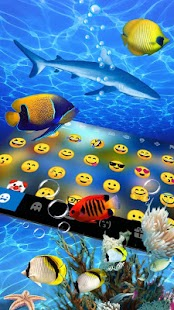 3D Live Fish Keyboard Theme - náhled