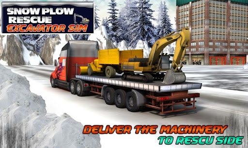 Snow Plow Rescue Excavator Sim