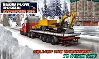 Winter Snow Rescue Excavator - screenshot thumbnail 01