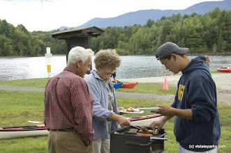 Photo: Mike and SHaron Fuller and their son Jeff Fuller attend at a Hope Fellowship church picnic held at Waterbury Ctr State Park. Photo by Karen Pike