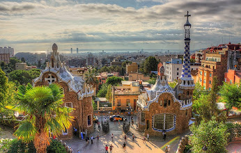 Photo: Gaudi's Guell Park in Barcelona.  http://en.wikipedia.org/wiki/Park_Guell