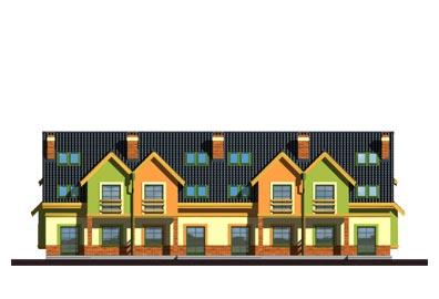 Mozaika segment skrajny lewy - Elewacja tylna