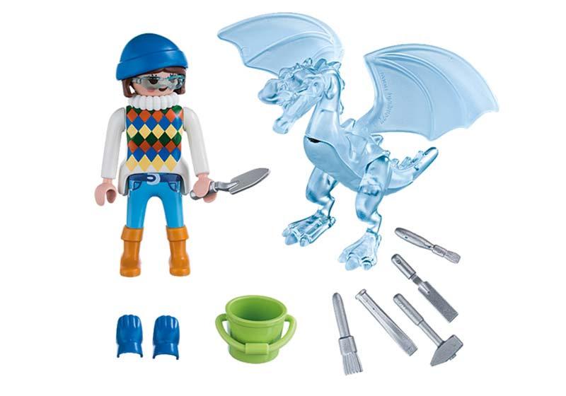 Contenido real de Playmobil® 5374 Escultora de Hielo
