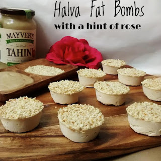 Halva Fat Bombs with a hint of Rose