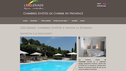 création de site web pour chambre d'hotes en provence