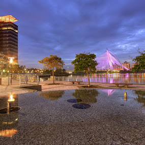 Counterpart by Danial Abdullah - Buildings & Architecture Other Exteriors ( putra, putrajaya, buildings, lake, travel, lakeside, architecture )