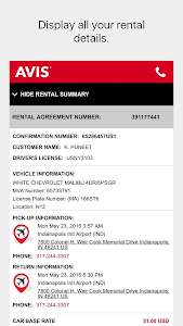 Avis Car Rental screenshot 4