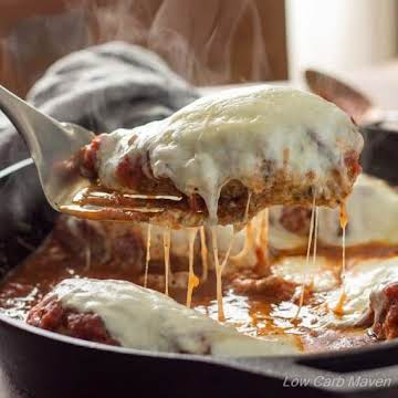 Low Carb Chicken Parmesan in a Skillet
