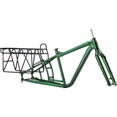 Salsa Blackborow Fat Bike Frame - Aluminum Green