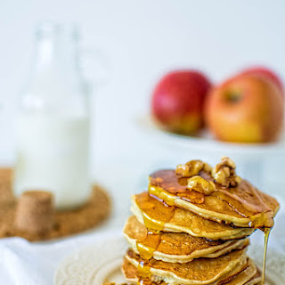 MINI APPLE WALNUT PANCAKES