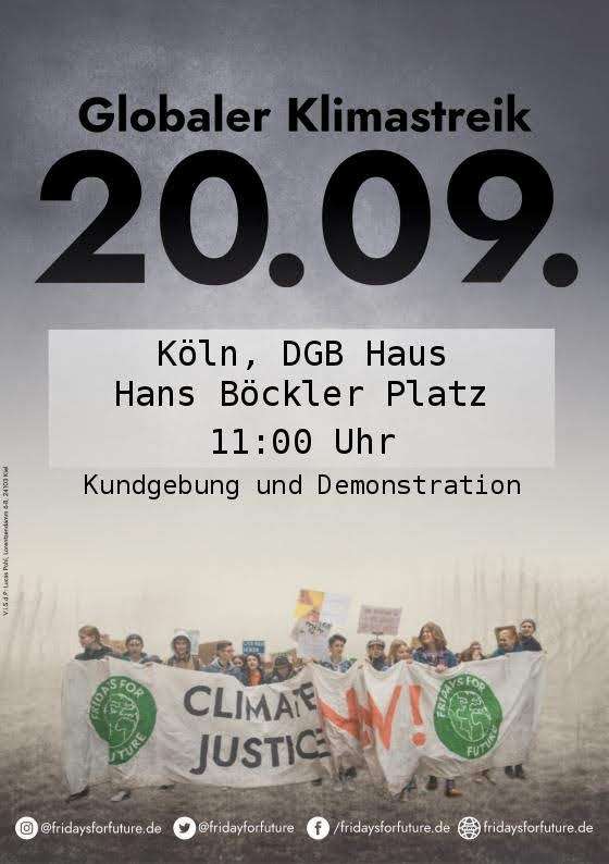 Demonstrationsweg des Klimastreiks am 20.09.19