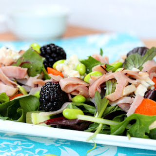 Blackberries, Blue Cheese and Black Forest Ham Salad
