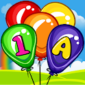 Balloon Pop Kids Learning Game Free for babies icon
