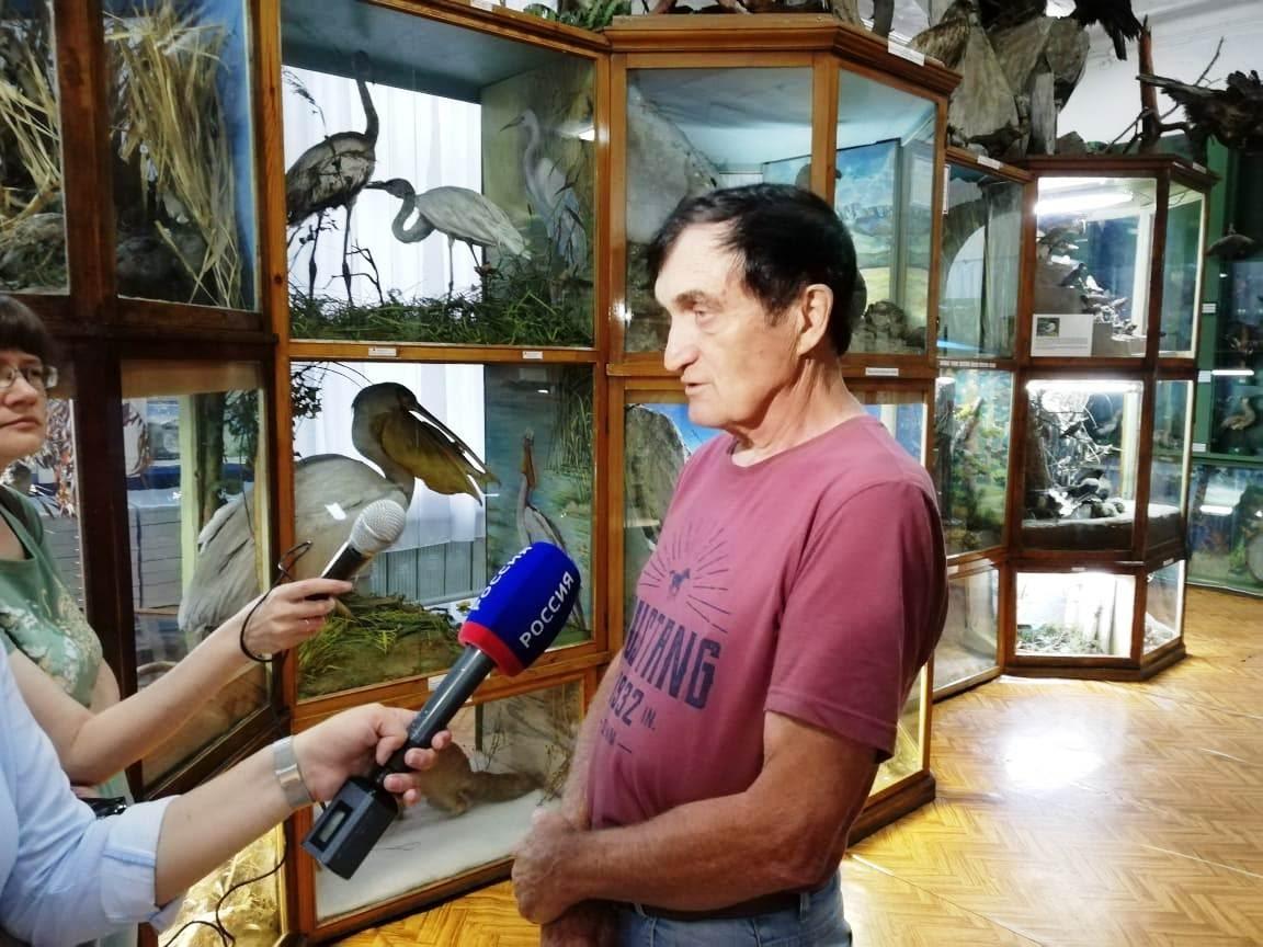 Интервью для местного телевидения