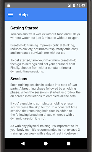 flow apnea trainer - screenshot