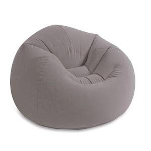 Fotoliu gonflabil Velvet Grey, 114x114x71 cm