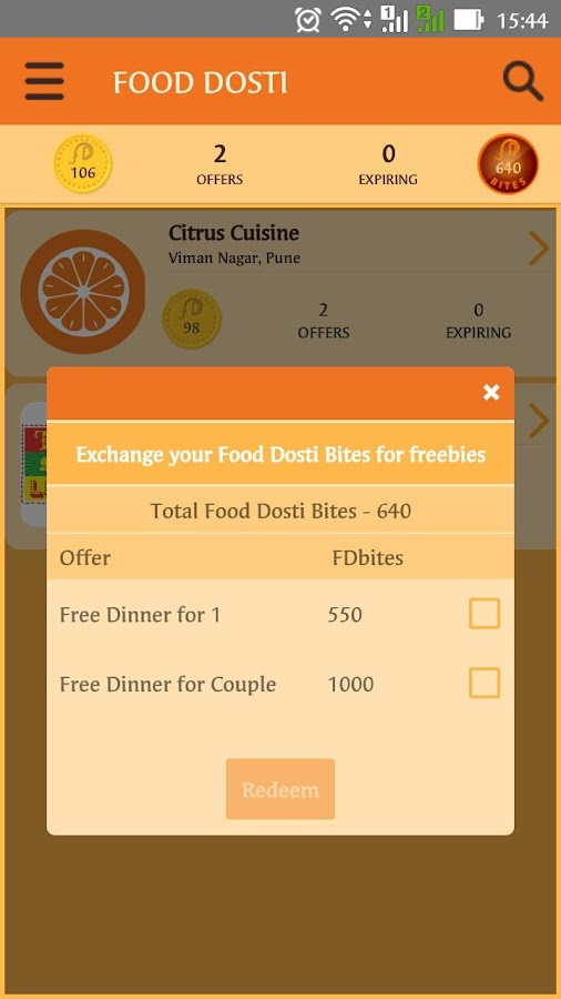 Food Dosti- screenshot