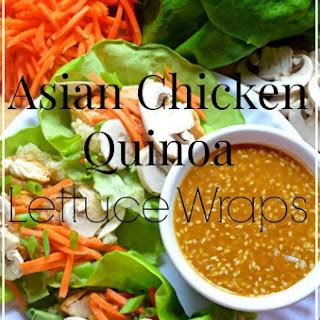 Asian Chicken Quinoa Lettuce Wraps