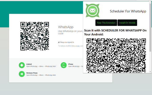 Scheduler For WhatsApp - Chrome Extension