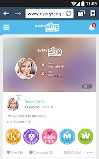 Smart Karaoke: everysing Sing! - screenshot thumbnail