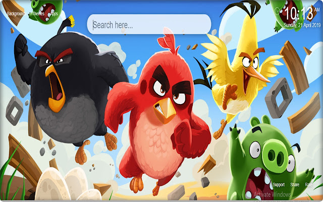 Angry Birds New Tab Themes
