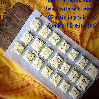 Barfi With Milk Powder Recipes