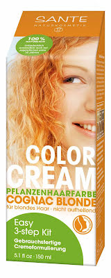 Color cream cognac blond