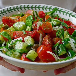 Lebanese Cucumber & Tomato Salad with Mint.