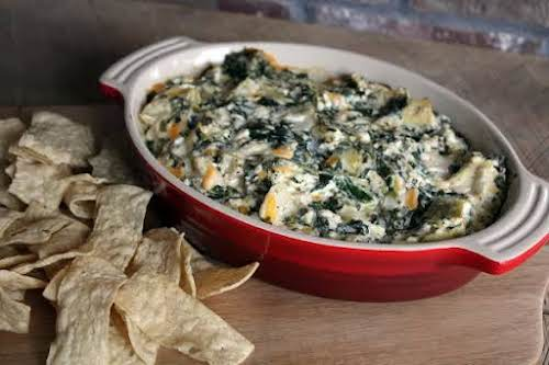 """Delicious Spinach Artichoke Dip""""I've always loved this dip, I just wanted to..."""