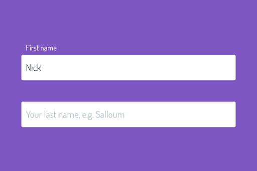 CSS Only Floated Labels with :placeholder-shown pseudo class