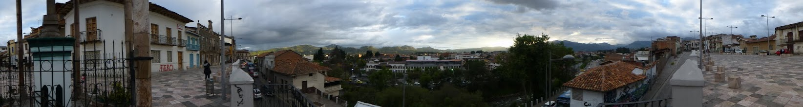 Photo: Panorama of Cuenca from viewpoint above river