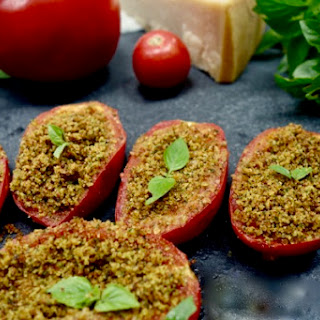 Roasted Stuffed Tomatoes with Herbs and Breadcrumb.