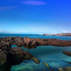 Blue  by Danette de Klerk - Landscapes Waterscapes ( water, sky, sea, ocean, seascape, rocks,  )