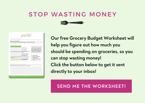 FREE Grocery budget worksheet meal planning