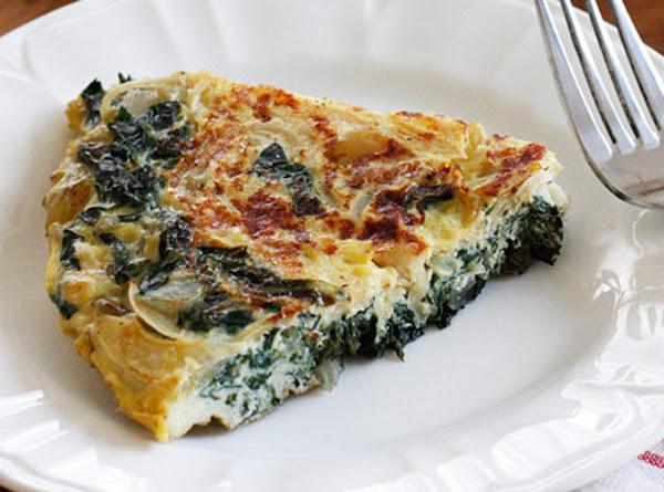 Norma's Light Spinach Swiss Frittata Recipe