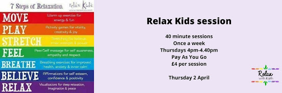 Relax Kids session 4pm-4.40pm