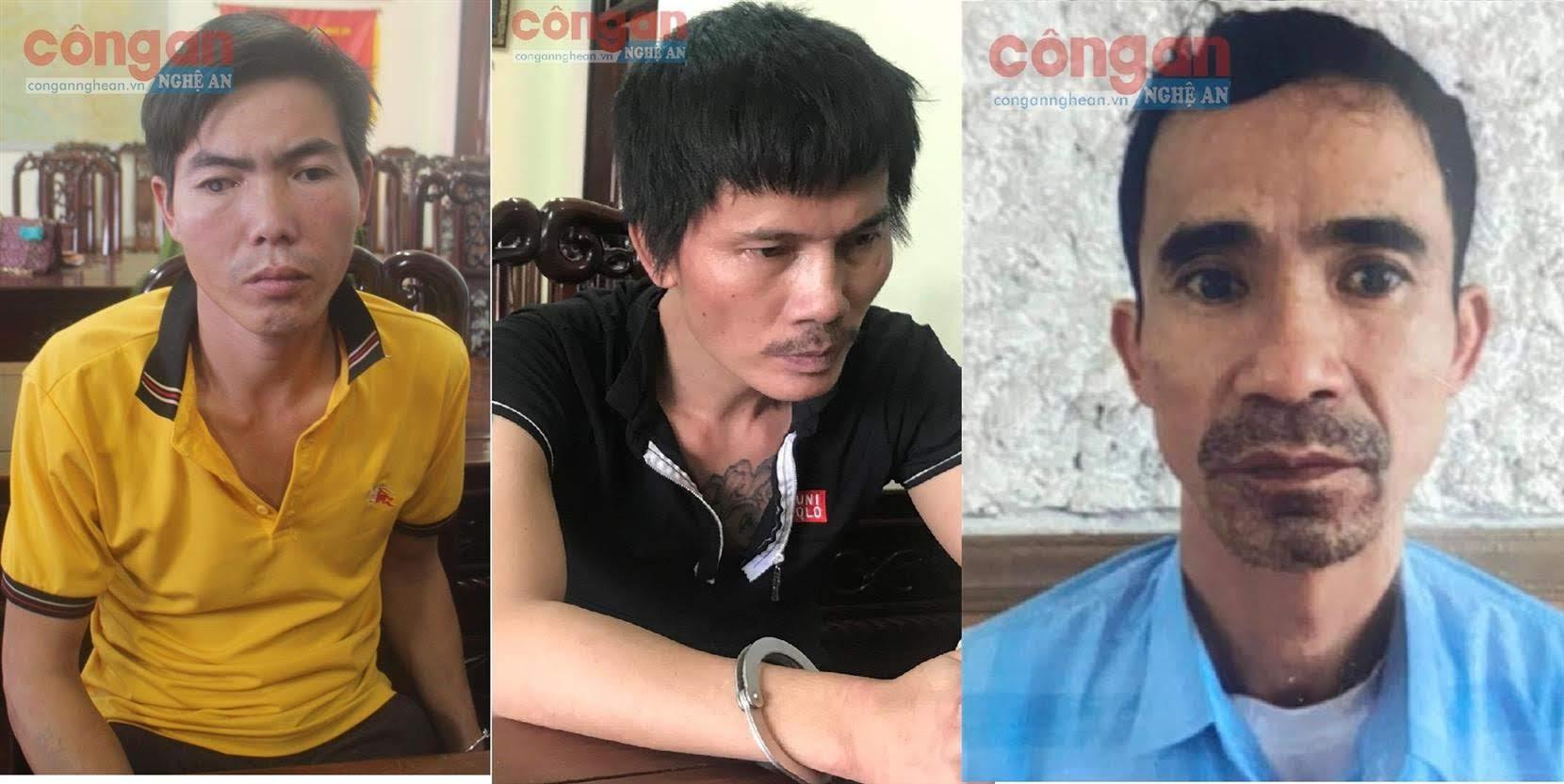 Các đối tượng Trần Khắc Bảy, Phan Văn Phiên và Nguyễn Cảnh Vinh